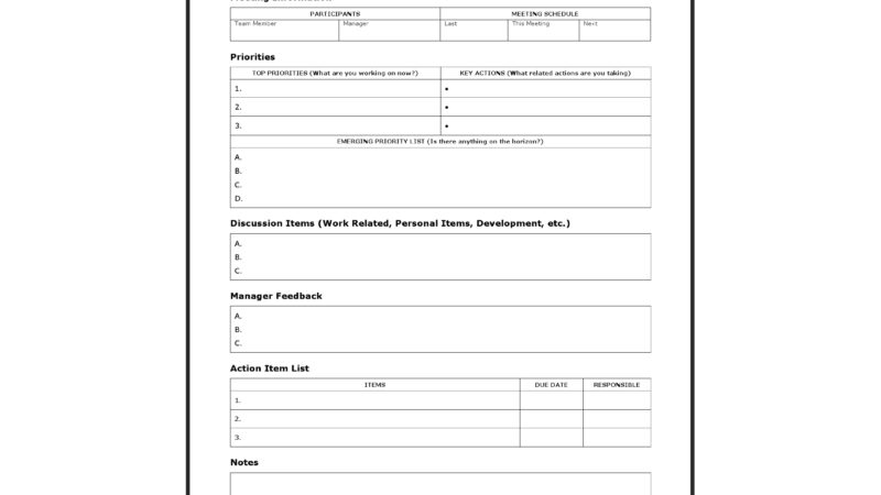 One-on-One Worksheet