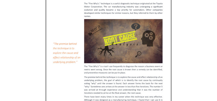 The Five Why's Article in PDF