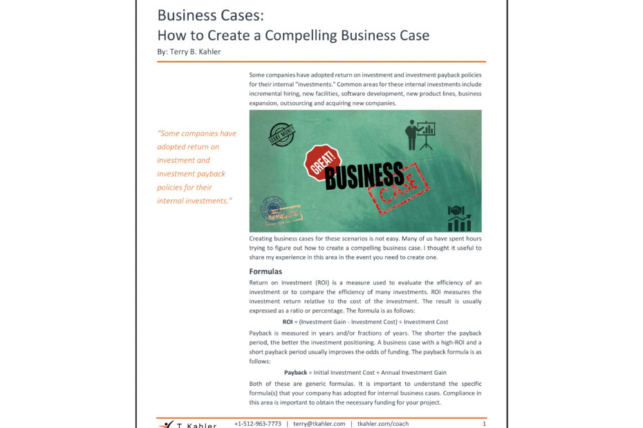 How to Create a Compelling Business Case