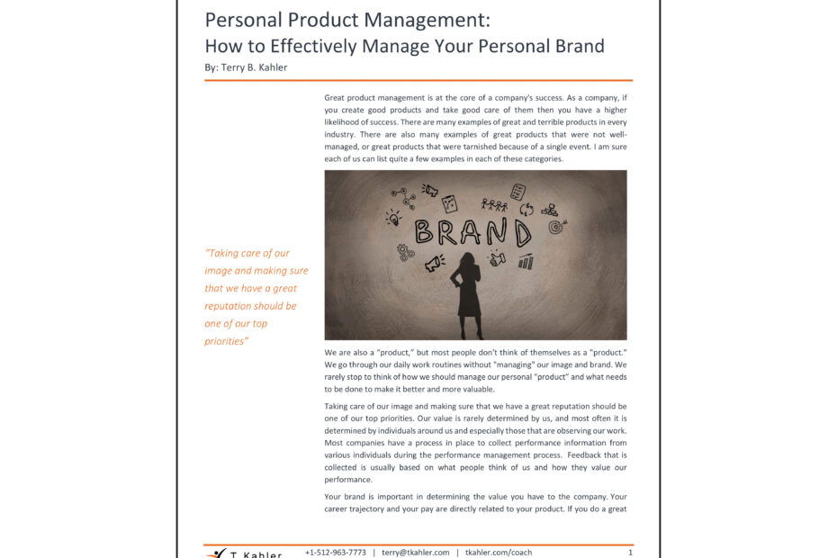 Personal Product Management