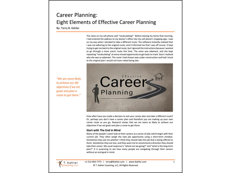 Career Planning Article in PDF