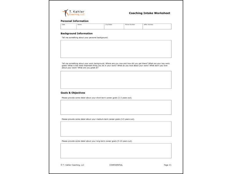 Coaching Intake Worksheet (Word)