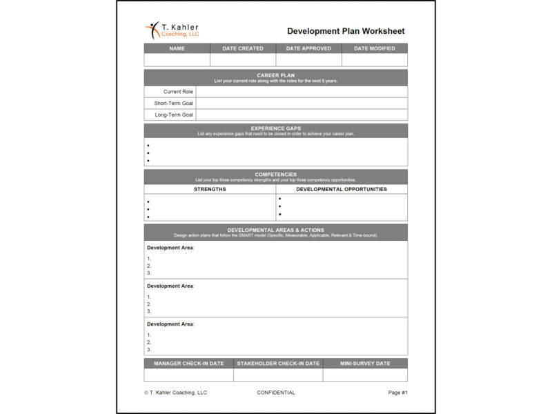 Development Worksheet