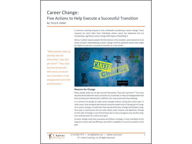Career Change Article in PDF