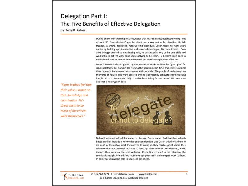 Delegation Part 1 Article in PDF