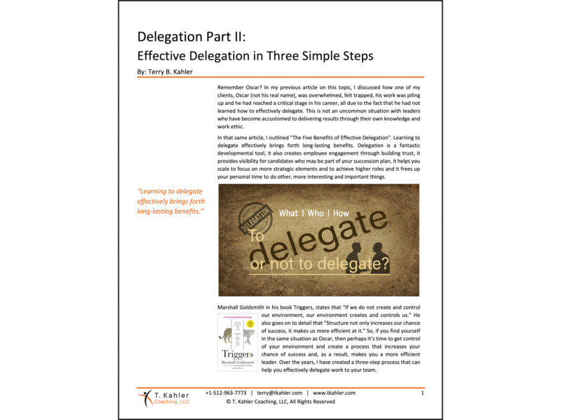 Delegation Part 2 Article in PDF