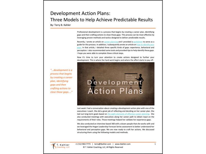 Development Action Plans in PDF