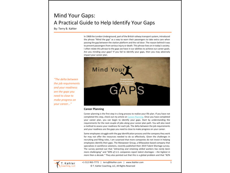 Mind Your Gaps Article in PDF