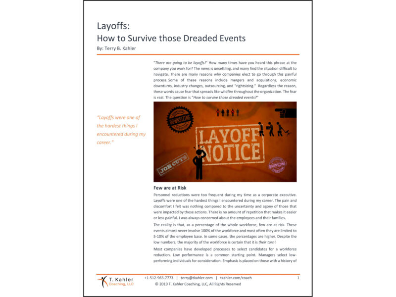 Layoffs Article in PDF