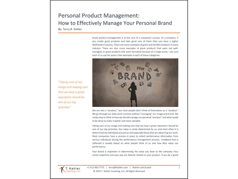 Personal Product Management in PDF