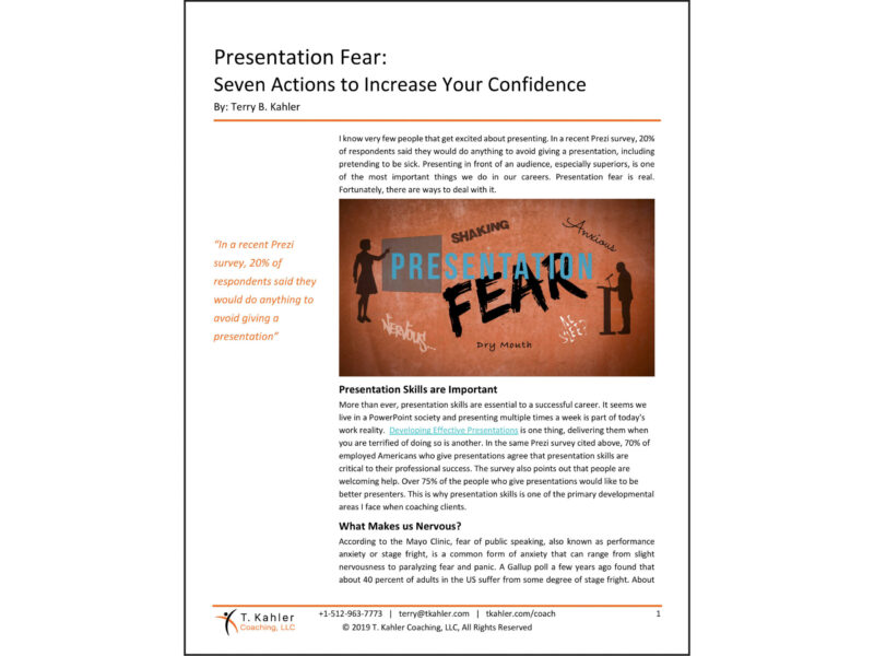 Presentation Fear in PDF