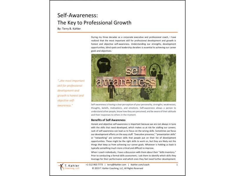 Self-Awareness Article in PDF