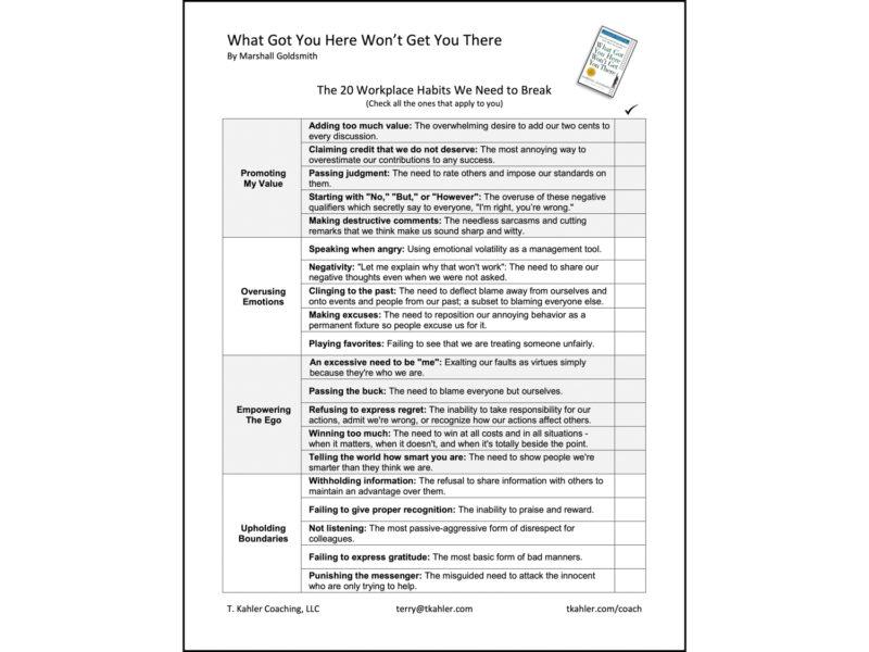 WGYHWGYT Checklist